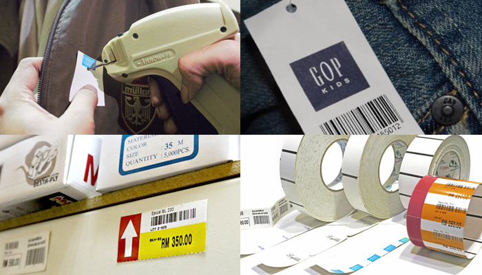 Barcode Tag Labels, Pricing Tag Labels