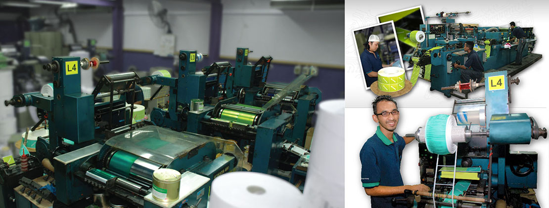 printing machines in DGroup Marketing factory